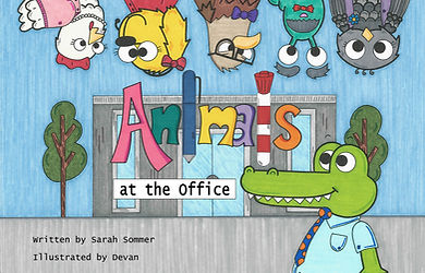 Animals at the Office- Front Cover- JPG.