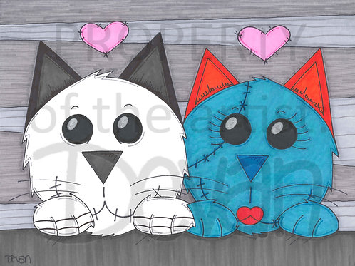 2 Pets  11 x 17 inches