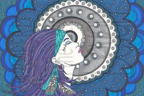 Madame Moon 17x11
