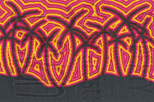 Black Light Art Piece 8 1/2 x 11 inches
