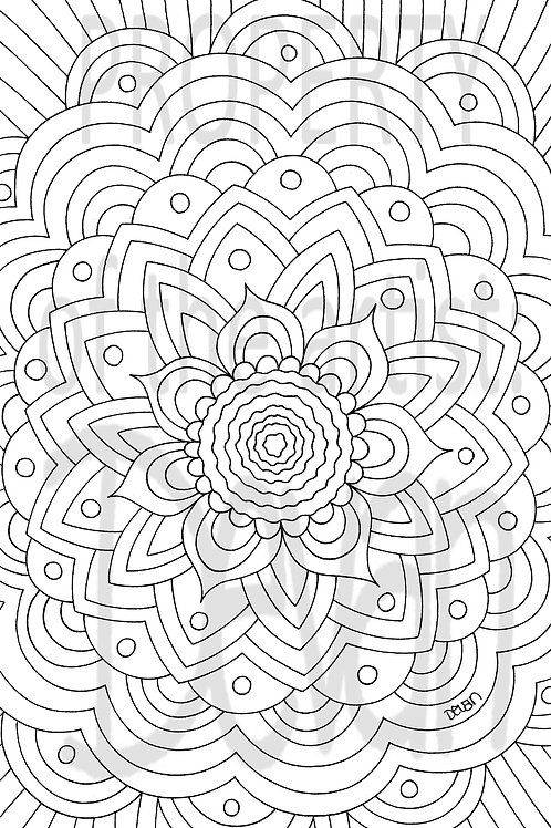 Custom Coloring Pages 11 x 17 inches (print)