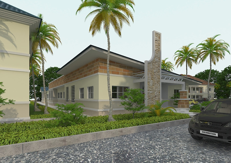 Front of the Safe House 3D Design