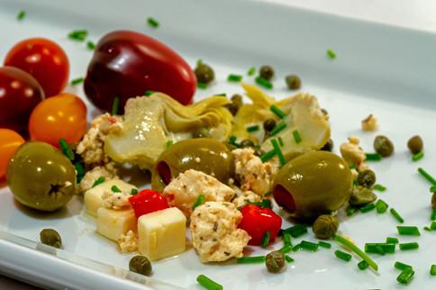 stylized appetizer plate