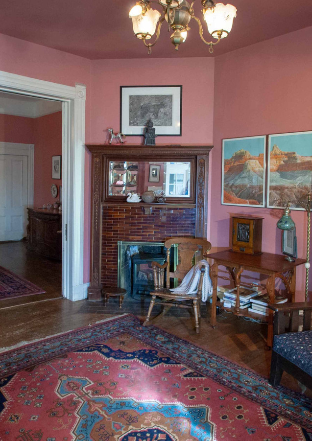 Living Room Swan Levine House