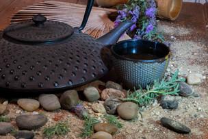 Stylized tea setting: