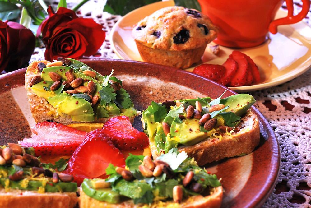 B&B marketing, food styling, Food Photography