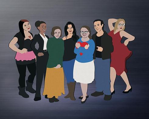 Cartoon image of Choir Project cast