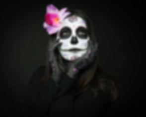 Memento Mori sugar skull makeup