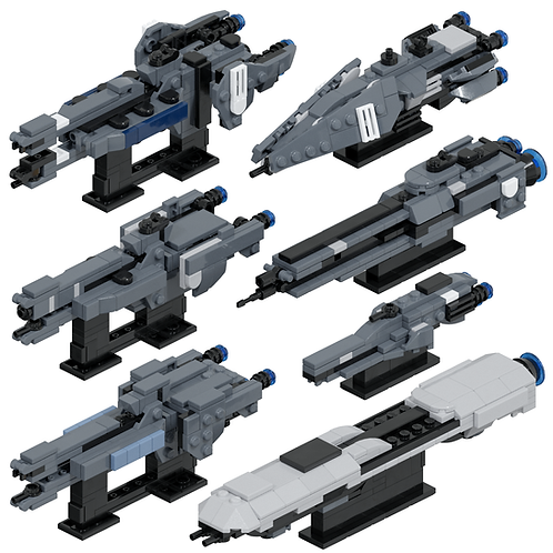 UNSC Support Ships #1 Part Kit