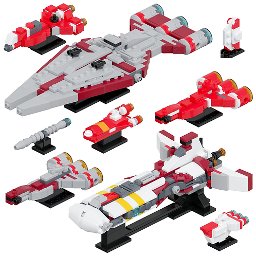 Republic Support Ships #1 Part Kit