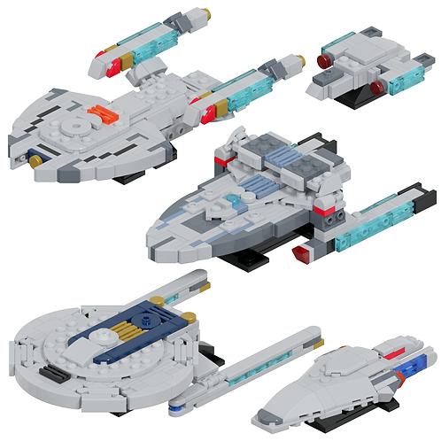 Federation Fleet #2 Part Kit