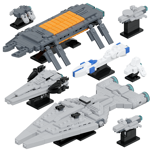 Imperial Support Ships #1 Part Kit