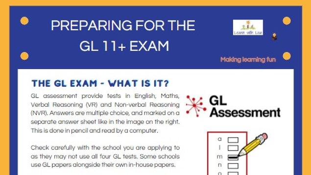 Preparing for the GL 11+ Exam