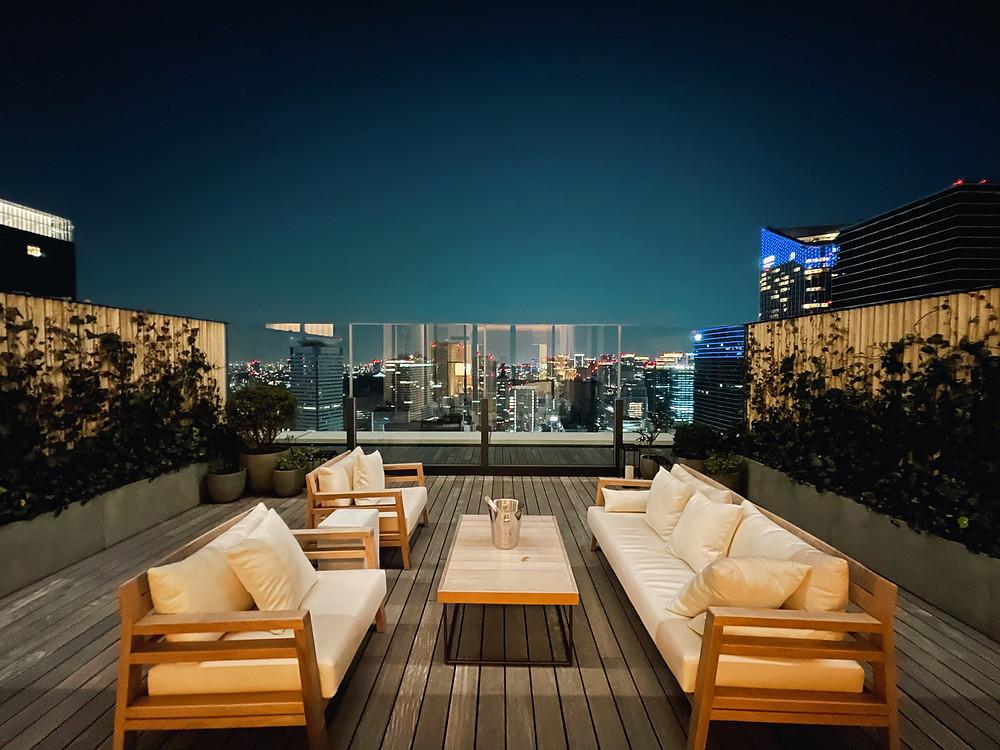 東京エディション虎ノ門の客室「ロフトテラス」の眺望