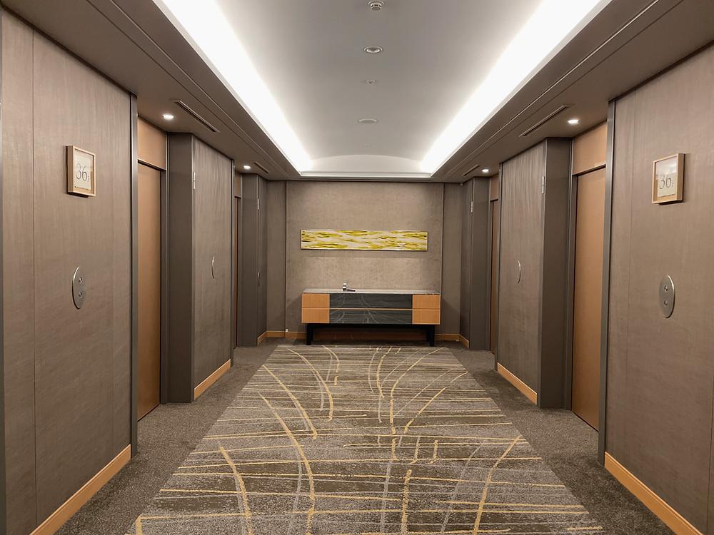セルリアンタワー東急ホテル エグゼクティブフロア エレベーターホール