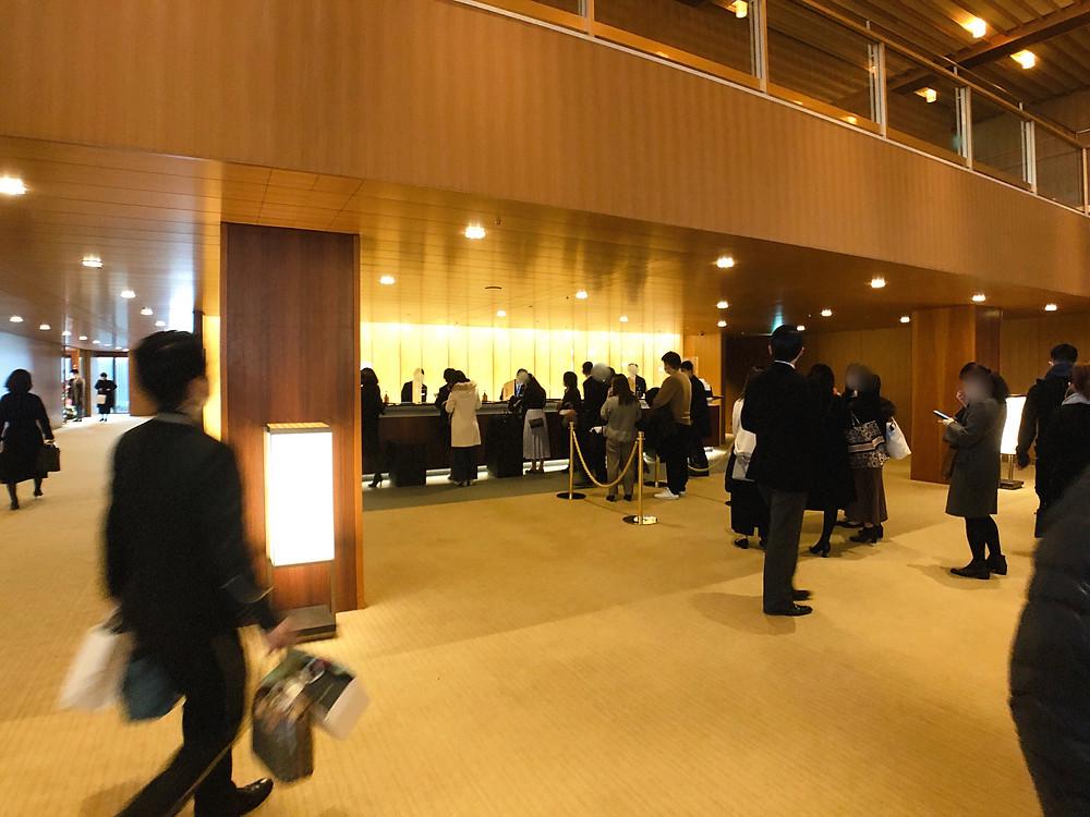 オークラ東京 プレステージタワーのチェックインカウンター