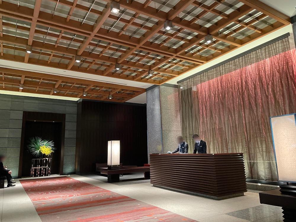 マンダリンオリエンタルホテル東京のロビーの様子