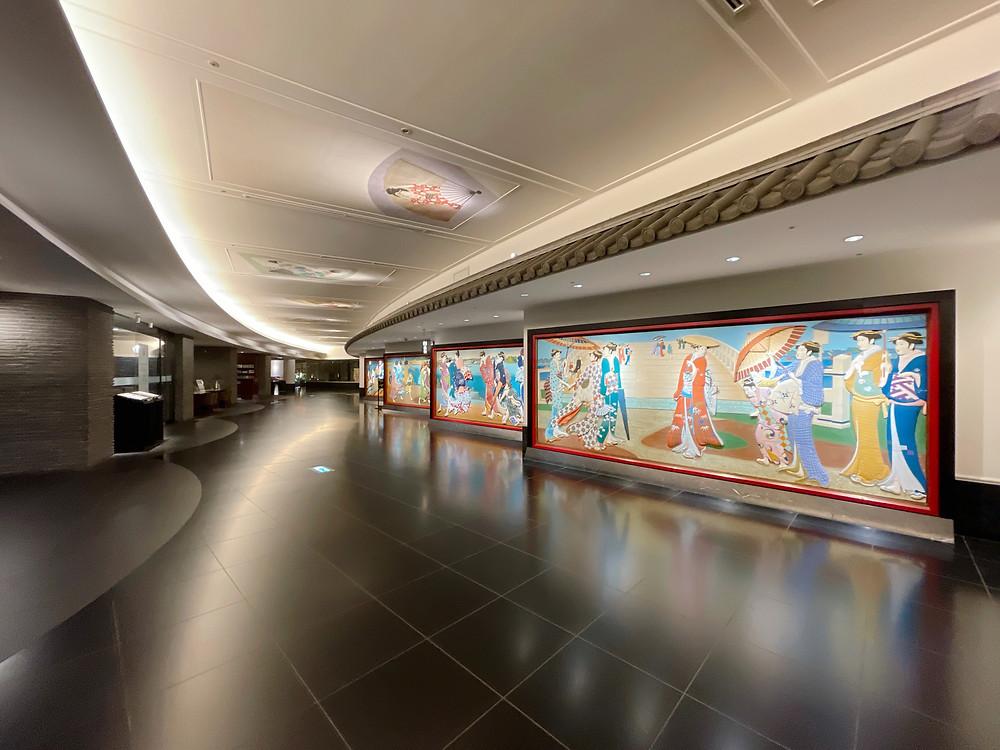 ホテル雅叙園東京 エントランスの美人画像