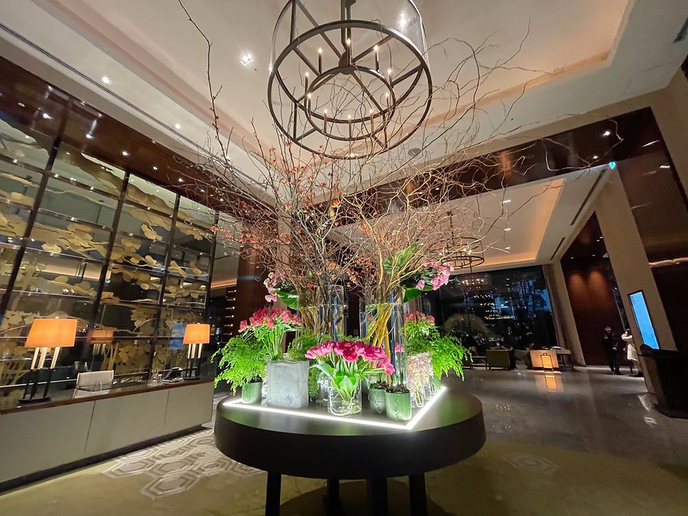 パレスホテル東京の装花の様子