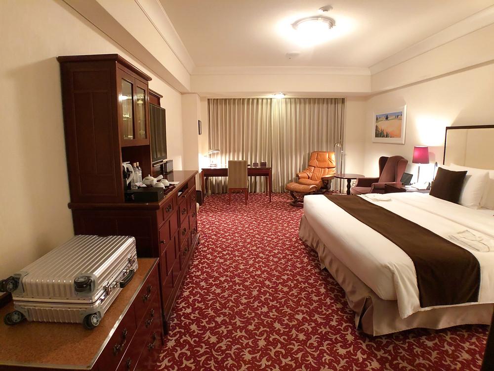 帝国ホテル東京のインペリアルフロアのデラックスルームの様子