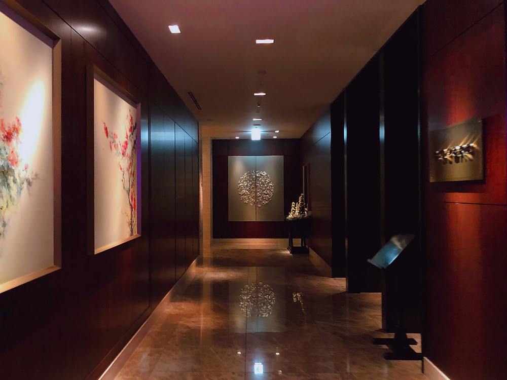 シャングリ・ラ ホテル東京のエントランスの様子