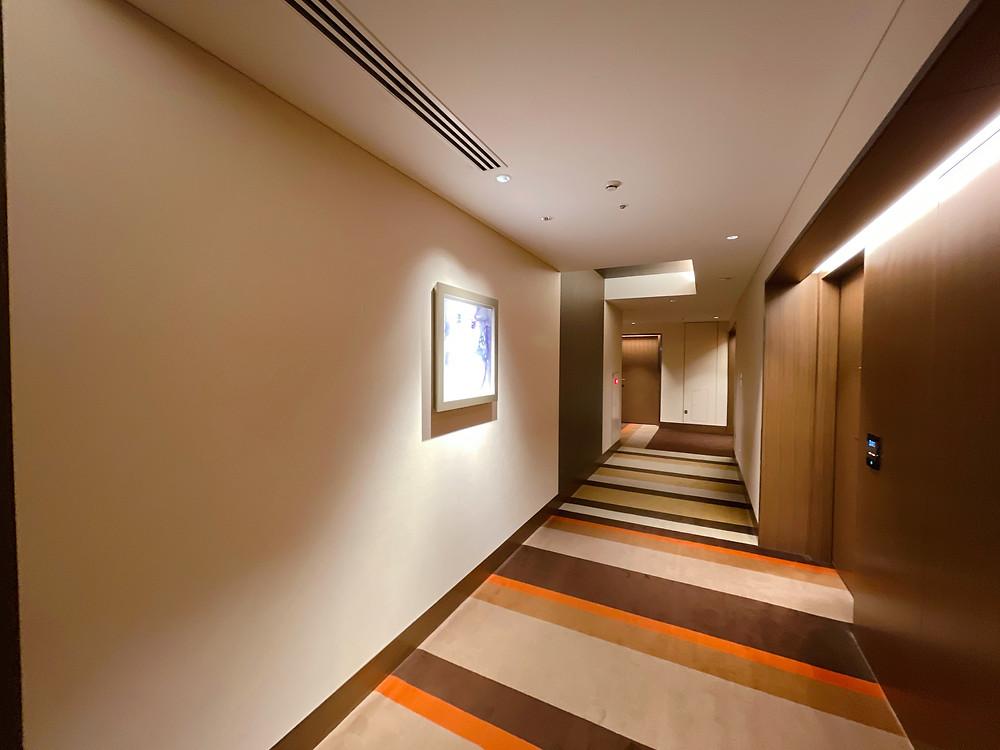 ザ・プリンスギャラリー東京紀尾井町 客室までの通路