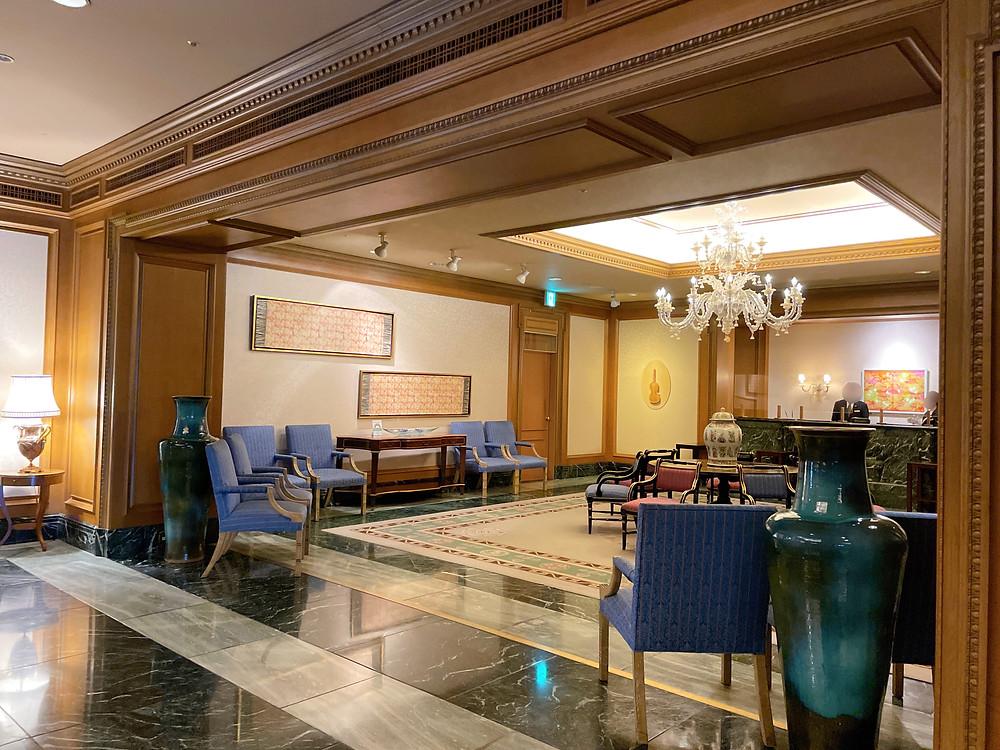 ホテル椿山荘東京のロビーの様子