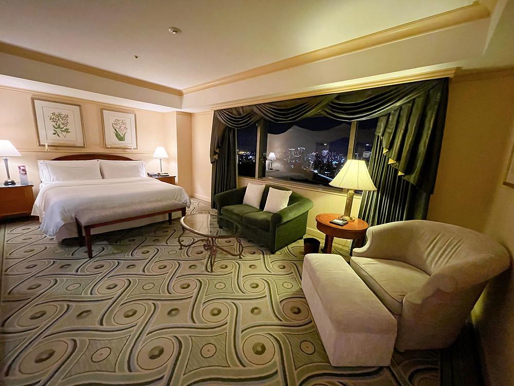 ウェスティンホテル東京のエグゼクティブスイートのベッドルーム