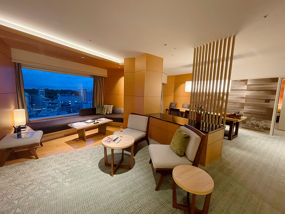 ホテル雅叙園東京 アンバサダースイートのリビング