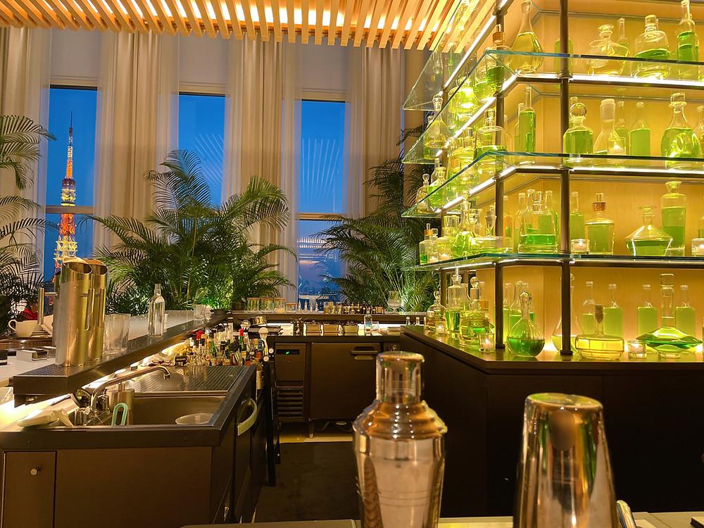 東京エディション虎ノ門のLobby Barの眺望