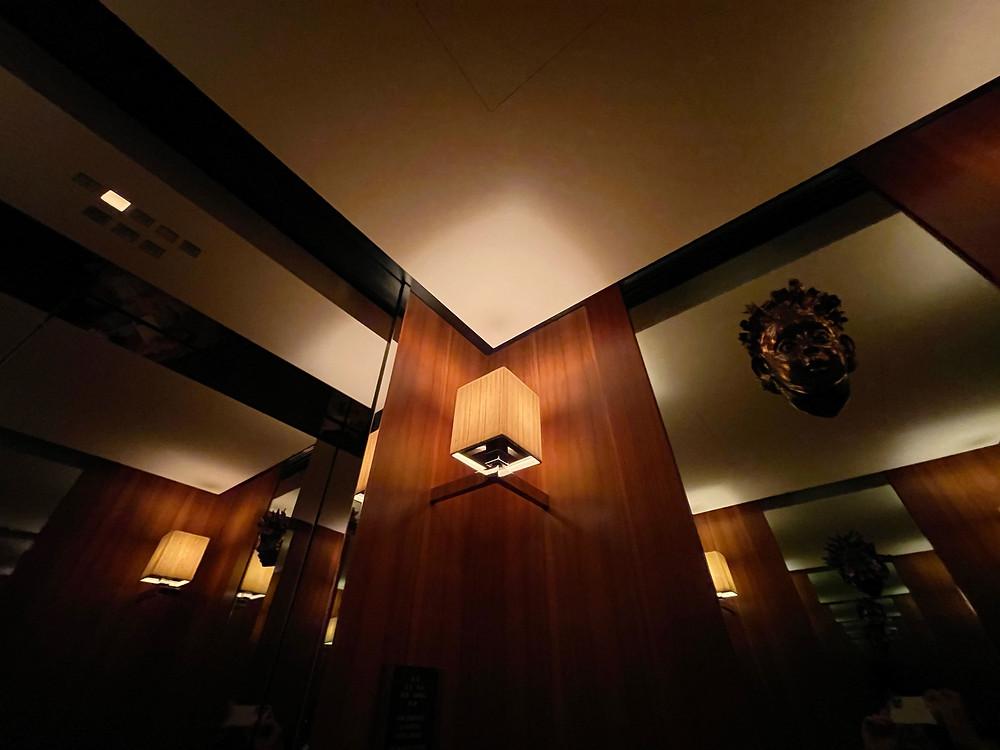 パークハイアット東京のフロントまでのエレベーター