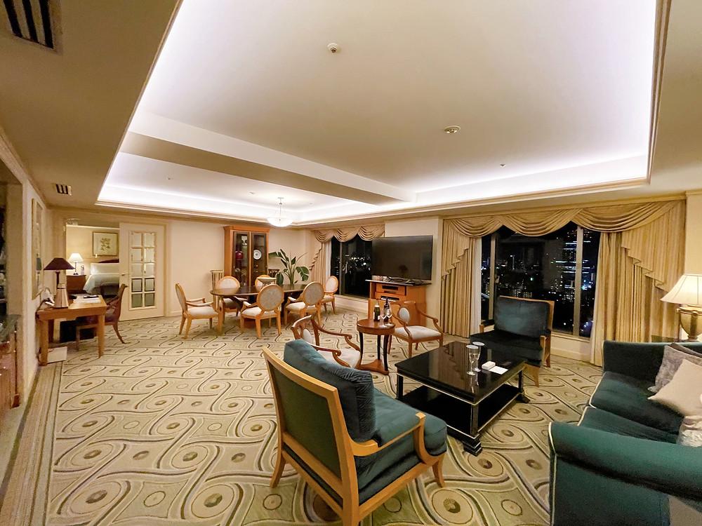 ウェスティンホテル東京のエグゼクティブスイートの様子