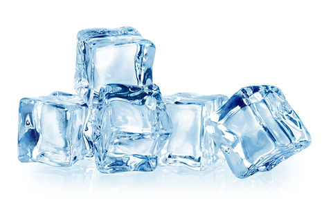 Ice cubes isolated on white. With clippi