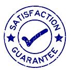 satisfaction guarantee logo at DuckDuckG