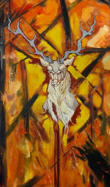 Narratives and Nightmarescapes: Stag Triptych part 1