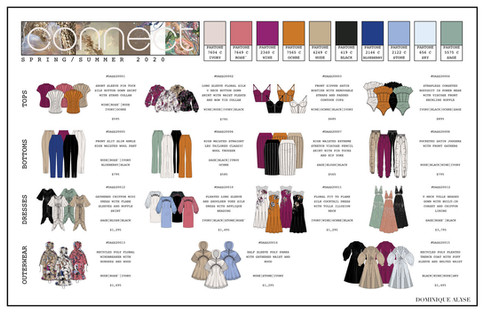 Connect SS2020 Ready-To-Wear Collection Line Sheet