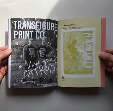 Ad for TRNSFR magazine