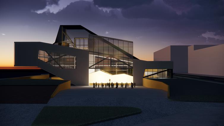 Perspective - Exterior Amphitheater Night