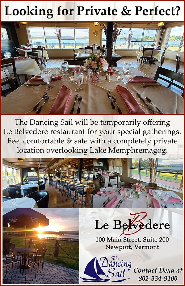Private Party, Le Belvedere, Dancing Sail, East Side Restaurant, Newport, Vermont, Waterfront, Party, Private,