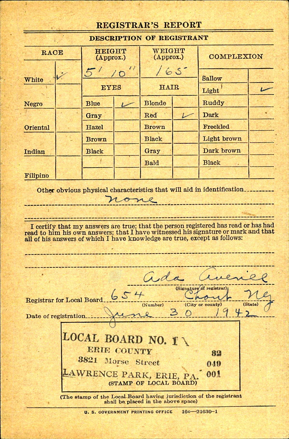 Draft Card
