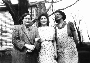 Great Grandmother Hazel Bronson Waite with son Norman's wife & mother