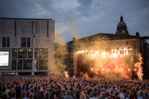 The Cribs - Leeds Millennium Square - Photo By Gary Mather