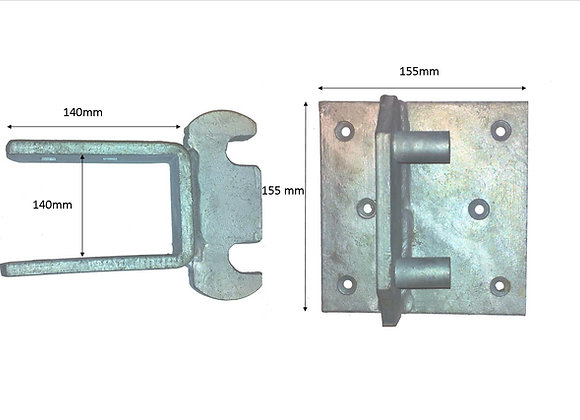 Rising Hinge Double Strap Band and Rocker Plate