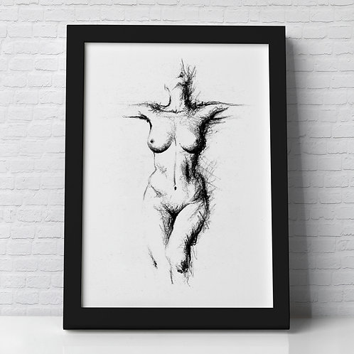 NUDE PORTRAIT BLACK & WHITE
