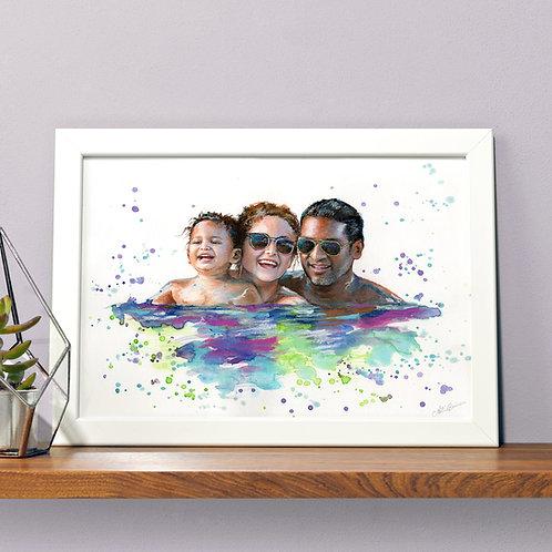 CUSTOM  FAMILY / COUPLE'S PORTRAIT