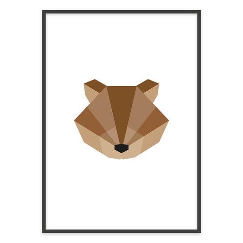 GEOMETRIC BEAR | PRINT