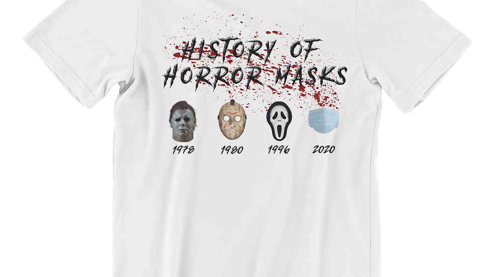 History of Horror Masks (White)