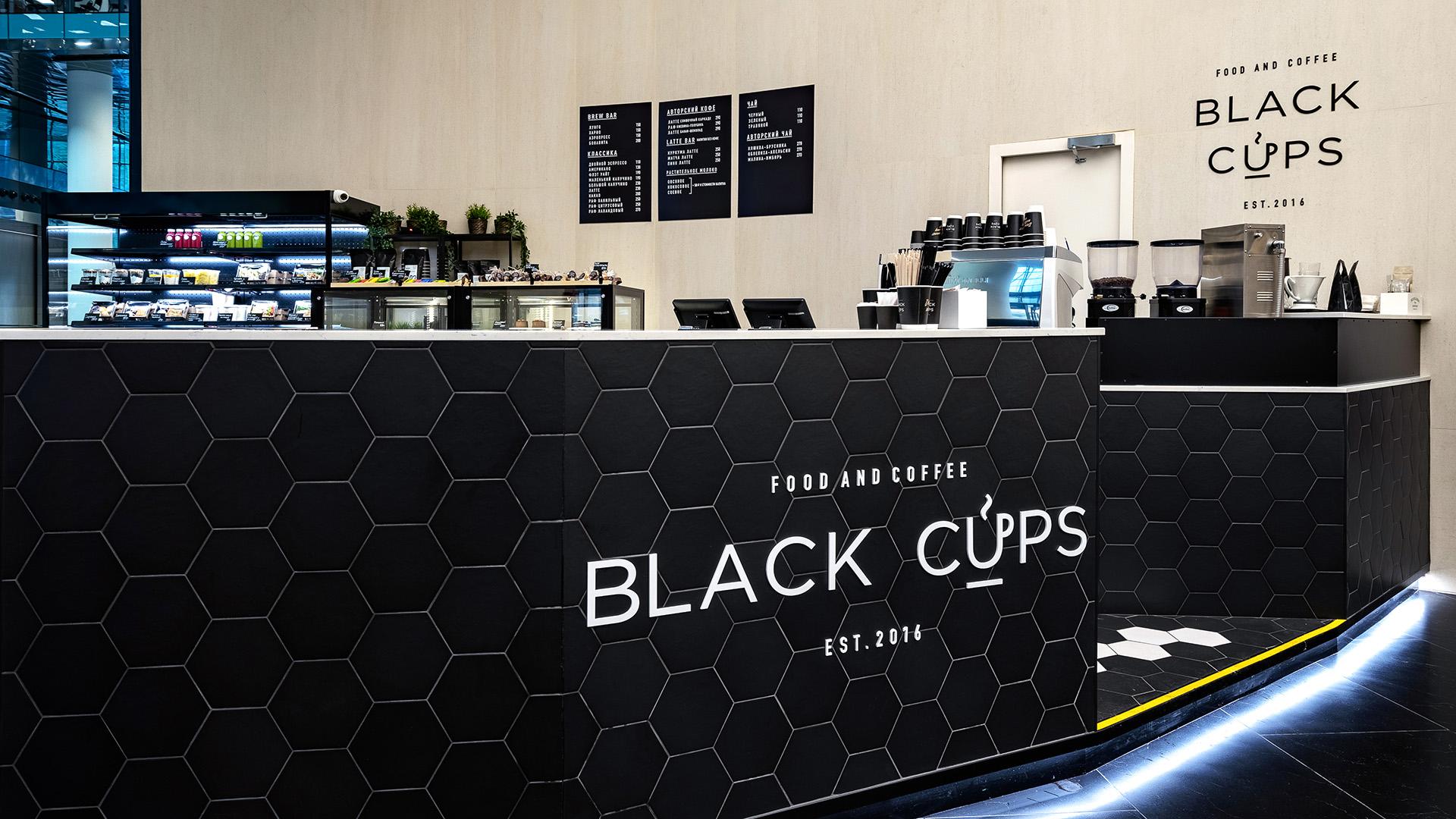 Интерьерная фотосъемка Black Cups