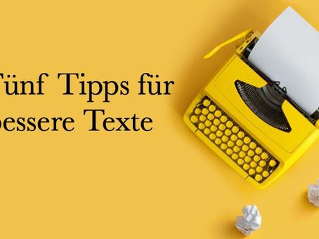 Fünf Tipps für gute Texte
