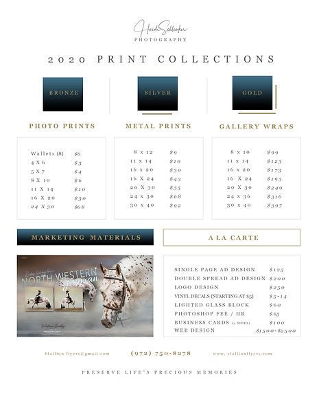 HorsePower Graphics Product Pricing Shee